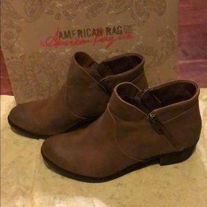 American rag size 6 brown booties worn once.